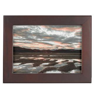 Sunrise reflections at Lago Grey Keepsake Box
