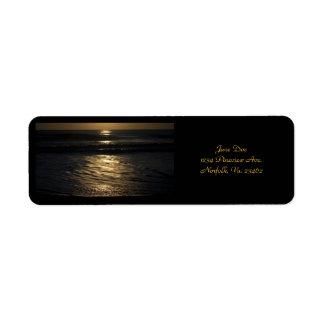 Sunrise Return Address Label
