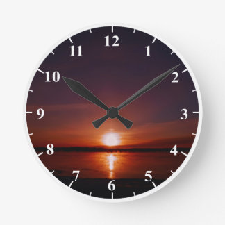 Sunrise Round Medium Wall Clock