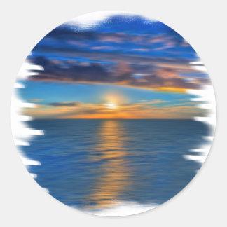 Sunrise Round Sticker