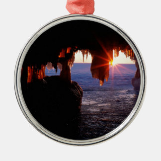 Sunrise Sea Caves Apostle Islands Wisconsin Christmas Ornament