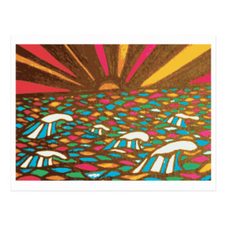 Sunrise Seascape Pop Art Postcard