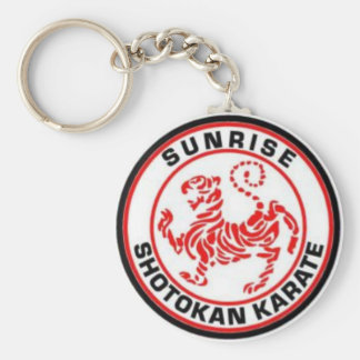 Sunrise Shotokan Karate Keyrings Basic Round Button Key Ring