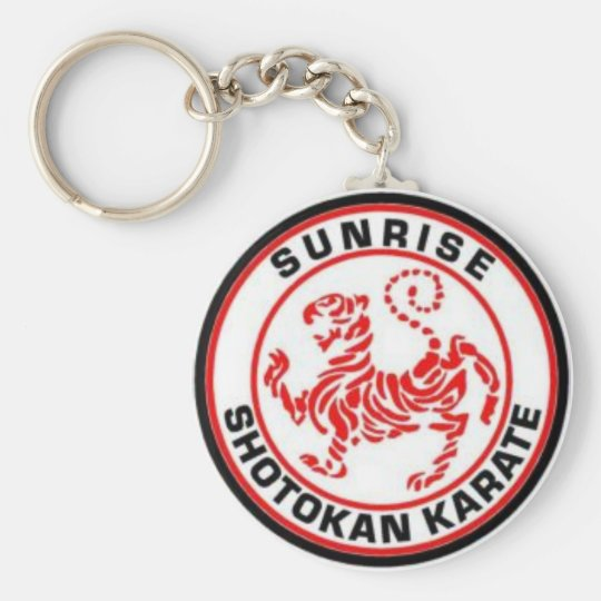 Sunrise Shotokan Karate Keyrings Basic Round Button Key Ring