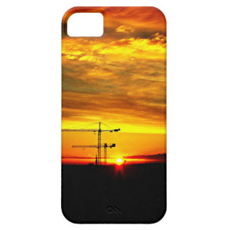 Sunrise silhouetting Cranes Case For The iPhone 5