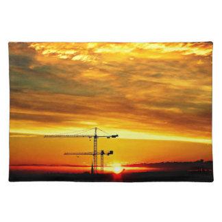 Sunrise silhouetting Cranes Placemat