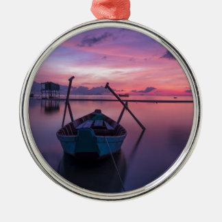 Sunrise Silver-Colored Round Decoration
