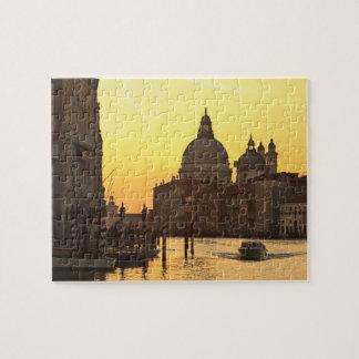 Sunrise sky colors near San Maria Del Giglio Jigsaw Puzzle