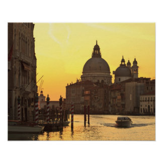 Sunrise sky colors near San Maria Del Giglio Poster