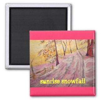 sunrise snowfall fridge magnet