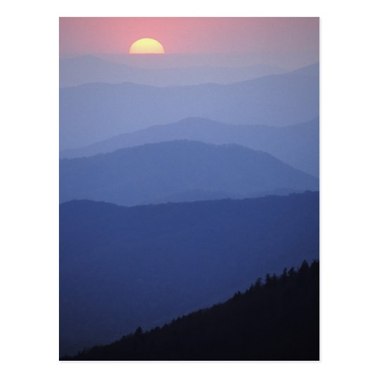 Sunrise, Southern Appalachian Mountains, Great Postcard