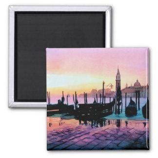 """Sunrise St. Mark's"" Gondola Watercolor Refrigerator Magnets"