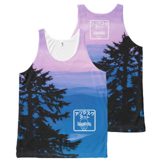 Sunrise Stamp All-Over Print Tank Top