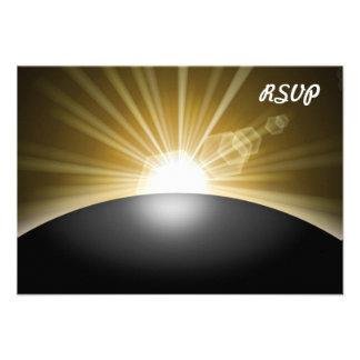 Sunrise Sunset Planet Personalized Announcement
