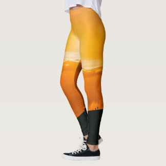 Sunrise Sunset Yellow Sky on Leggins Leggings