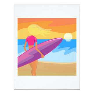 Sunrise Surfer Card
