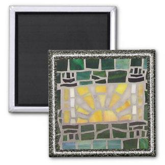 Sunrise Torah Mosaic Square Magnet