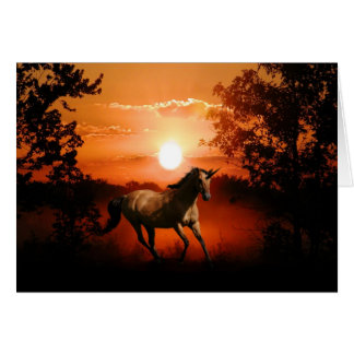 Sunrise unicorn card