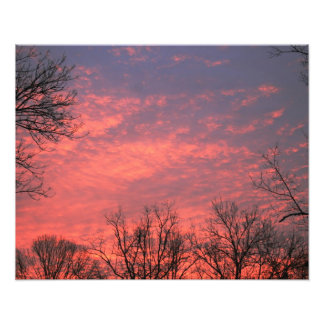 Sunrise w/  vivid Clouds Photo Print