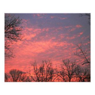 Sunrise w vivid Clouds Photo Print