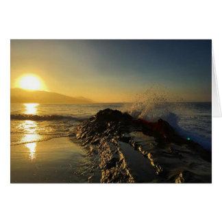 sunrise wave greeting card