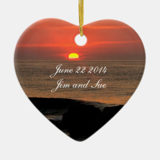 Sunrise Wedding Date Ornaments