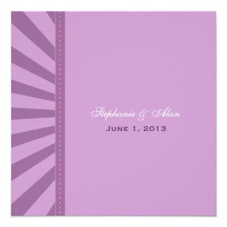 "Sunrise Wedding Invitation 5.25"" Square Invitation Card"