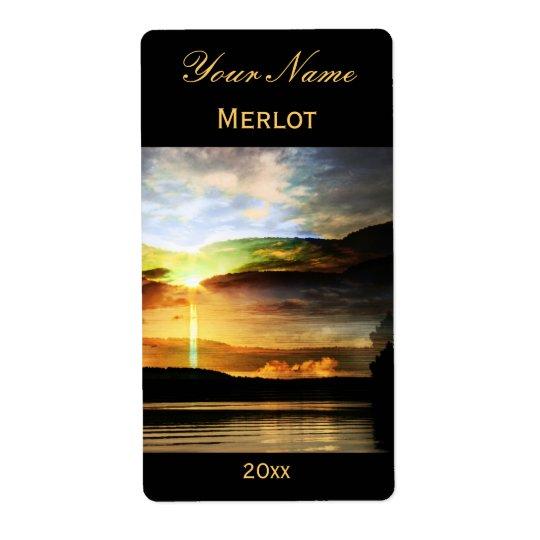 Sunrise wine label