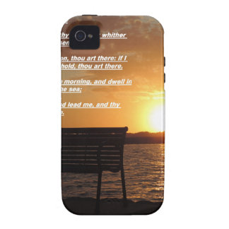 sunrise with bible verse vibe iPhone 4 case