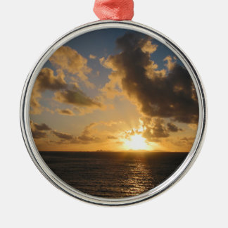 Sunrise With Clouds St. Martin Christmas Ornament