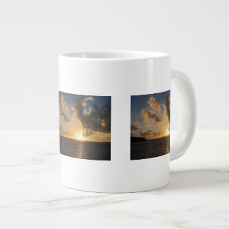 Sunrise With Clouds St. Martin Jumbo Mugs