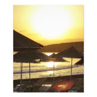 Sunrise with Greece Beach Custom Flyer