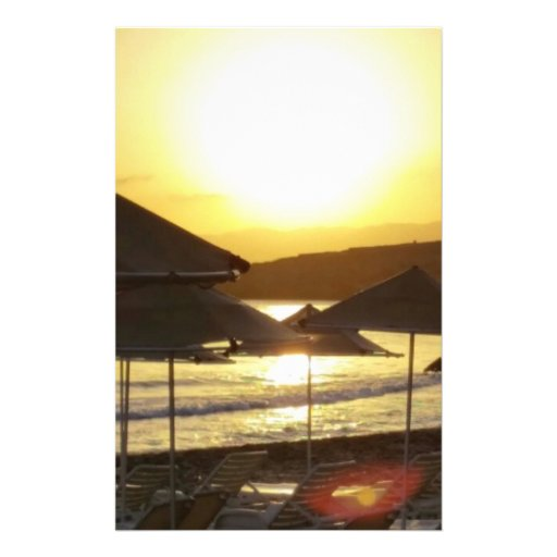 Sunrise with Greece Beach Personalized Flyer