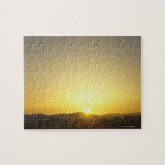 Sunrise with hills and trees jigsaw puzzle