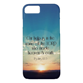 Sunrise with Psalms Bible Verse iPhone 7 Case