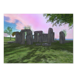 Sunrise Worship Stonehenge Poetry Invitation 5x7""