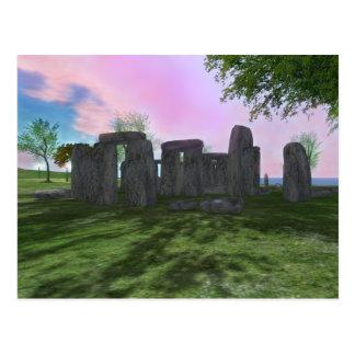 Sunrise Worship Stonehenge Poetry Postcard