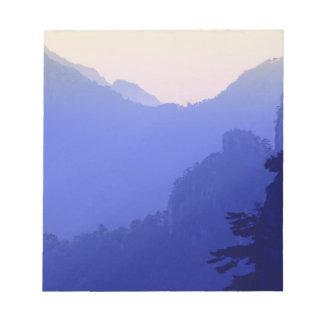Sunrise, Yellow Mountain, Huangshan, China Notepad