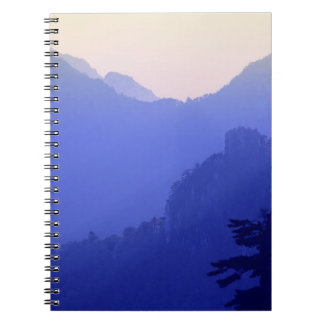 Sunrise, Yellow Mountain, Huangshan, China Spiral Notebook