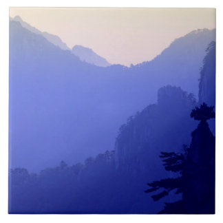 Sunrise, Yellow Mountain, Huangshan, China Tile