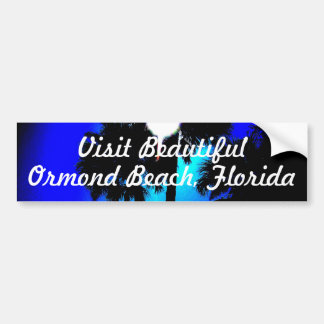 sunrisepalms, Ormond Beach, Florida, Visit Beau... Car Bumper Sticker