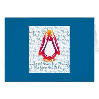Sunriser Penguin Happy Holidays Greeting Card