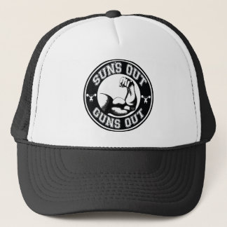 SUNS OUT GUNS OUT BY EKLEKTIX TRUCKER HAT