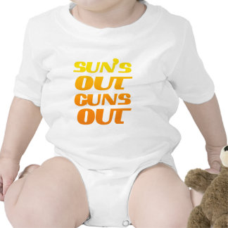 Sun's Out Guns Out Fun fitness and gym Romper