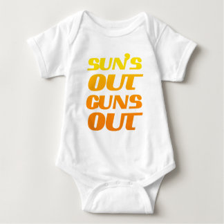 Sun's Out Guns Out Fun fitness and gym Tshirts