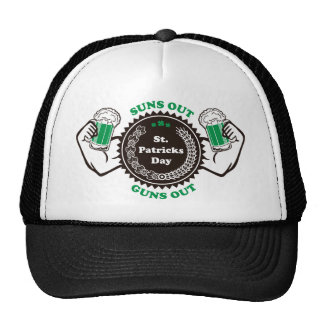 Suns Out Guns Out St. Patricks Day Beer Pub Crawl Cap