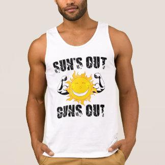 Suns Out Guns Out Summer beach