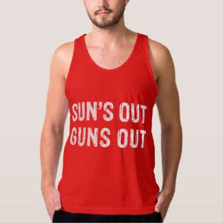 Suns Out Guns Out White Tank Top