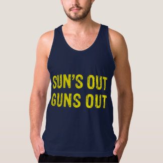 Suns Out Guns Out Yellow Tank Top