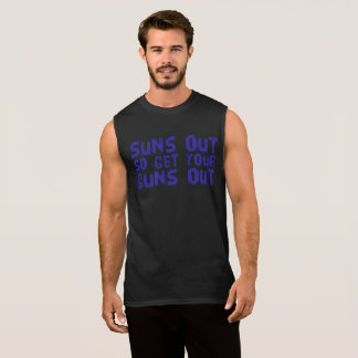 Suns out so get your guns out men's sleeveless tee